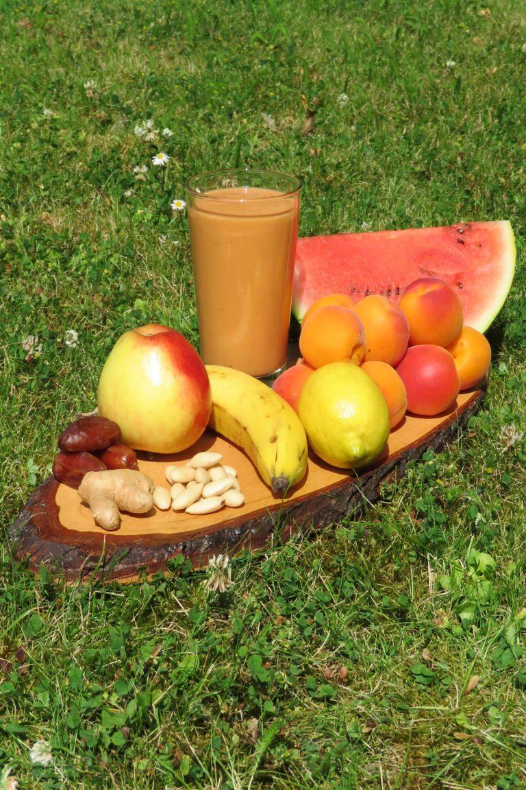 Aprikose-Melone-Apfel - hoch