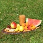 Aprikose-Melone-Apfel - quadrat